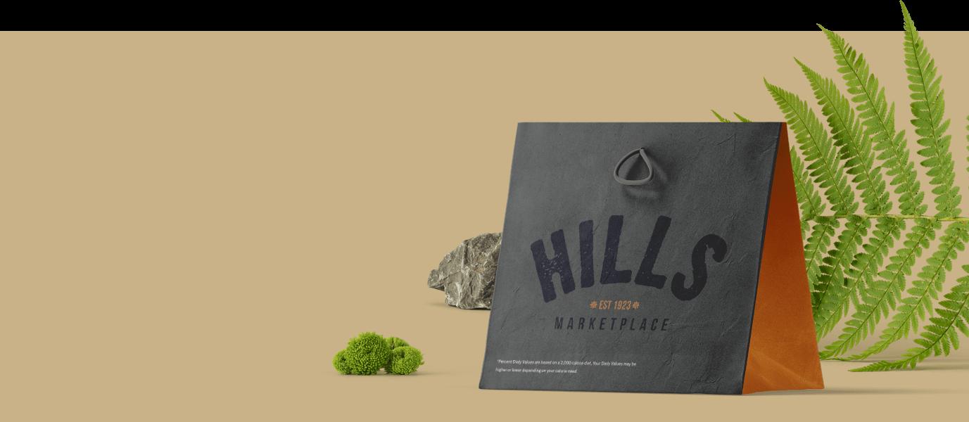 Hills Marketplace full branding