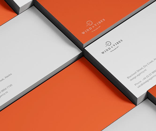 Wind & Vibes graphic design