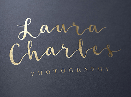 textual logo for photography company