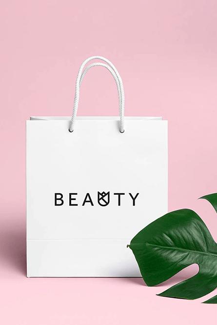 beauty bag logo design