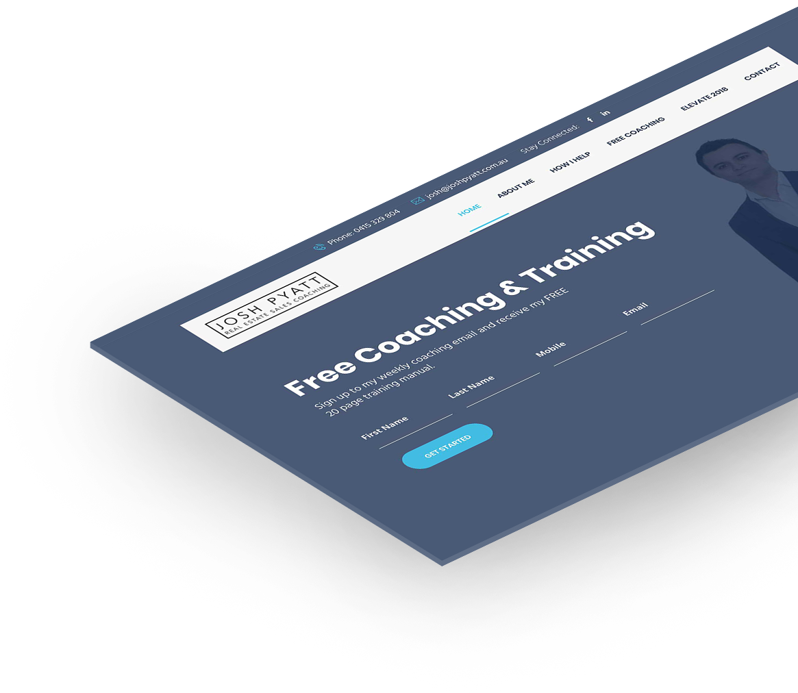 Josh Pyatt responsive website design