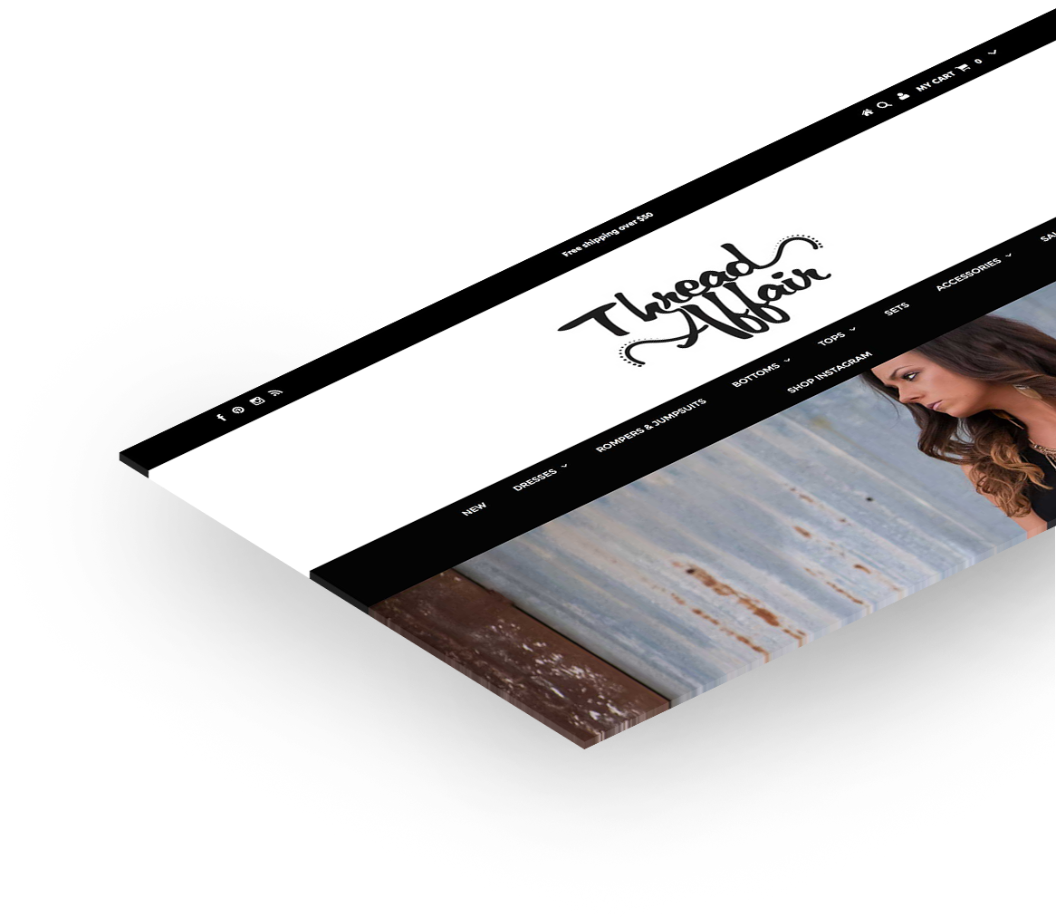Thread Affair website design