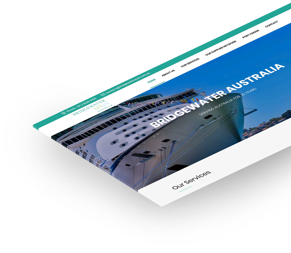 Bridgewater Australia website design