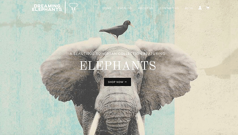 Dreaming Elephants responsive design preview