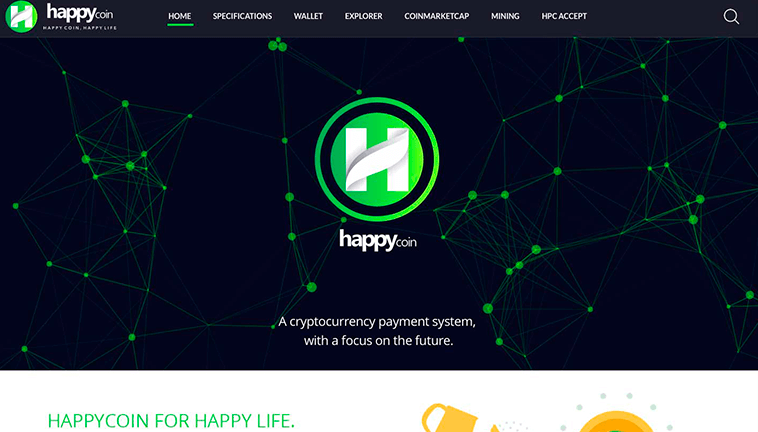 HappyCoin responsive design preview