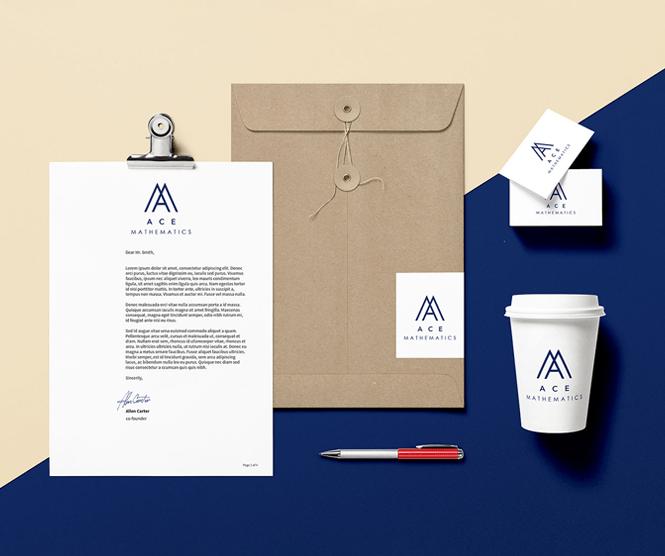 Ace Mathematics graphic design