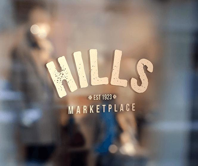 Hills Marketplace graphic design